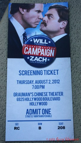The Campaign Screening Ticket