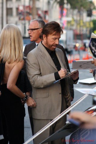 Chuck Norris Signing Autographs