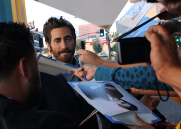 Jake Gyllenhall Signing Autographs