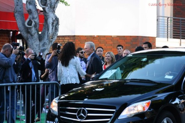 Clint Eastwood arrives at the premiere of Trouble With The Curve.