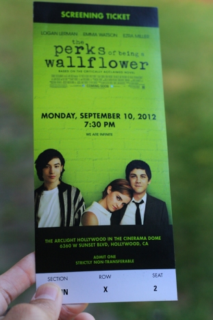 The Perks of Being A Wallflower Screening Ticket
