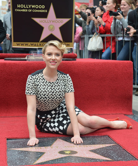 Scarlett Johansson Receives a Star at the Hollywood Walk of Fame