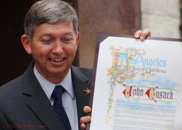 John Cusack Certificate