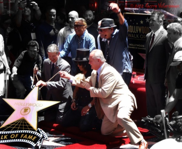 Unveiling of Slash's Walk of Fame Star