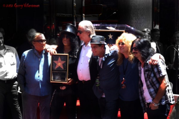 Robert Evans, Slash, Jim Ladd, Charlie Sheen, Steven Adler, Gilby Clarke