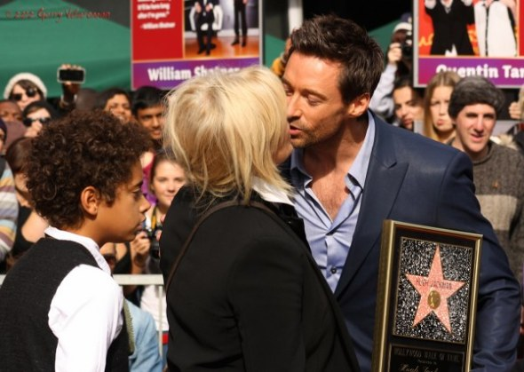 Oscar Jackman, Deborra-Lee Furness & Hugh Jackman
