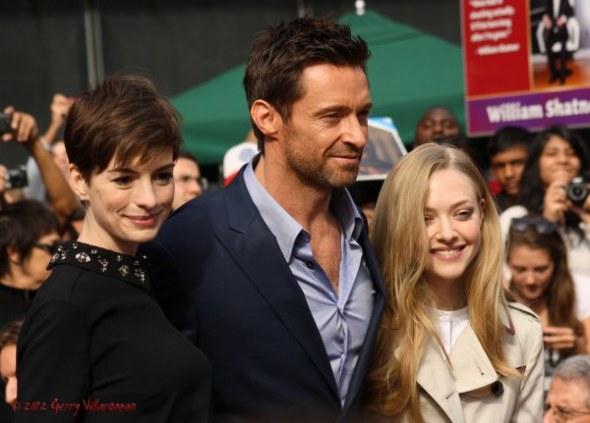 Anne Hathaway, Hugh Jackman, Amanda Seyfried