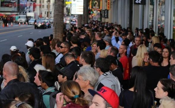 Hollywood crowd
