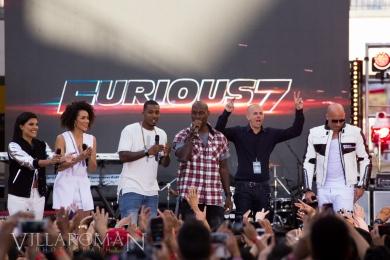 DJ Hannah Rad, Nathalie Emmanuel, DJ Damage, Tyrese Gibson, Neal H. Moritz, VIn Diesel