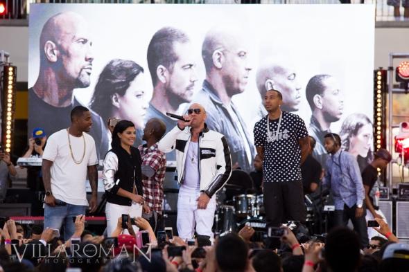 DJ Damage, DJ Hannah Rad, Tyrese Gibson, Vin Diesel, Ludacris